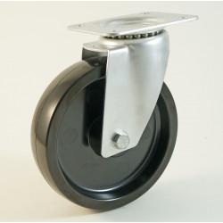 Roulette à platine haute température, roue résine phénolique CU 100 à 300 Kg