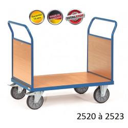 Chariots de manutention à 2 dossiers