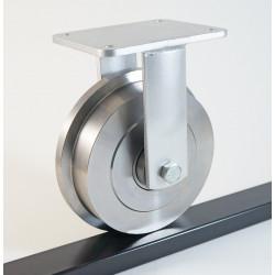 Roulette fixe sur roue de wagonnet acier charges 1200 à 4500 Kg