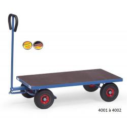 Char à bras léger avec plateforme CU 500 kg