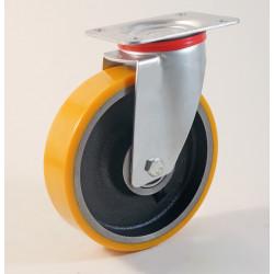 Roulette à platine, bandage polyuréthane, Charges 120 à 450 Kg (série Z/22)