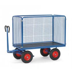 Chars à bras acec 4 ridelles en treillis (H1000) CU 750 à 1250 Kg